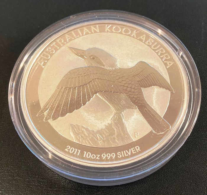 Australië. 10 Dollars 2011 Perth Mint Kookaburra - 10 Oz