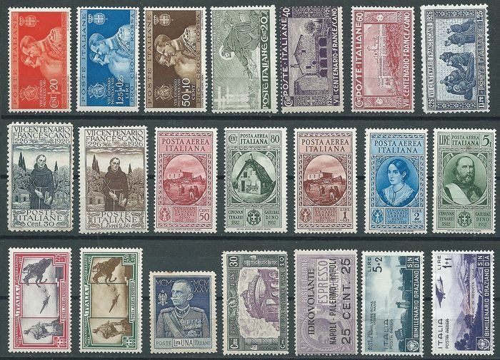 Royaume d'Italie 1924/1937 - Single stamps and complete sets