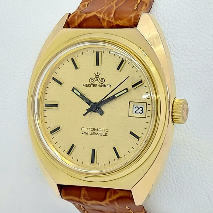 Meister Anker - Automatic - Gold Plated -  Date -  (NO RESERVE PRİCE) - 41 - Herren - 1970-1979