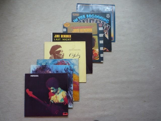 Jimi Hendrix & Related - on 8 LP Albums - Multiple titles - LP's - 1970/1982