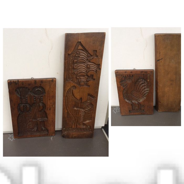 Two beautiful Dutch speculaas boards, both approximately 1870 to 1880 - Wood - 1870 to 1880