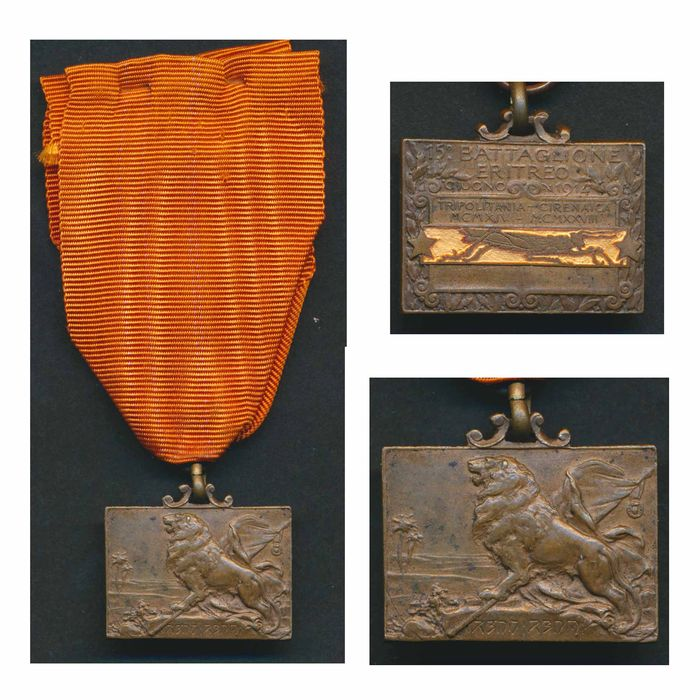 Italy - Africa 1914/1918 - COLONIAL 15th Eritrean battalion medal variant - Tripolitania and Cyrenaica