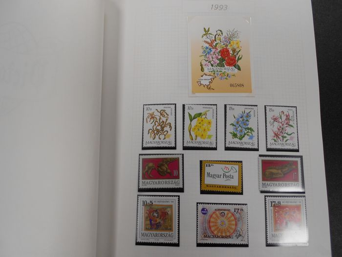 Ungarn - Collection 1993-2001, stamps and blocks - Yvert
