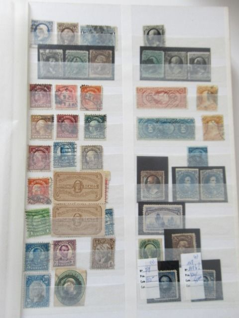 United States of America - Large collection of stamps for studies of colours, postmarks, etc.