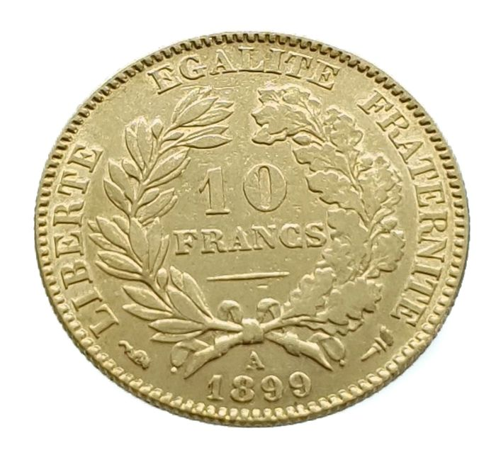 Frankrijk. Third Republic (1870-1940). 10 Francs 1899-A Ceres