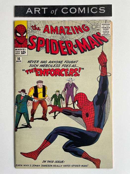The Amazing Spider-Man #10 - 1st Appearance Of The Big Man And The Enforcers - Very High Grade!! - Softcover - Eerste druk - (1964)