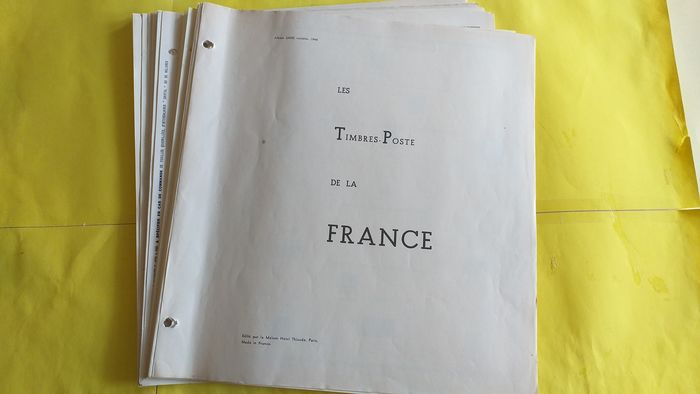 Francia 1920/1960 - Collection on album pages, mint * or cancelled