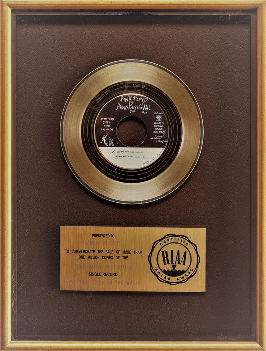 Pink Floyd - Another Brick in the Wall - Presented to Pink Floyd - Prix officiel RIAA - 1979/1979
