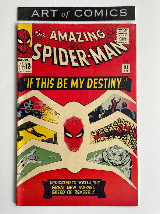 Amazing Spider-Man #31 - 1st Appearance Of Gwen Stacy, Harry Osborne & Professor Miles Warren - Higher Grade!!! - Very Important & Extremely Hot KEY BOOK!!! - Softcover - Eerste druk - (1965)