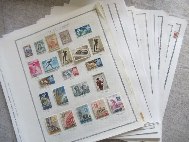 Saint Martin - Advanced collection of stamps