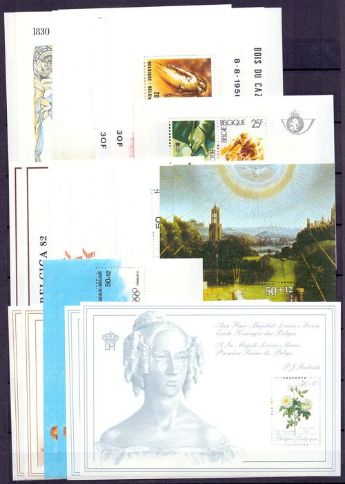 Belgien 1980/1989 - 10 complete years with blocks and booklets - OBP / COB 1961/2348 + BL55/65 + B16/19