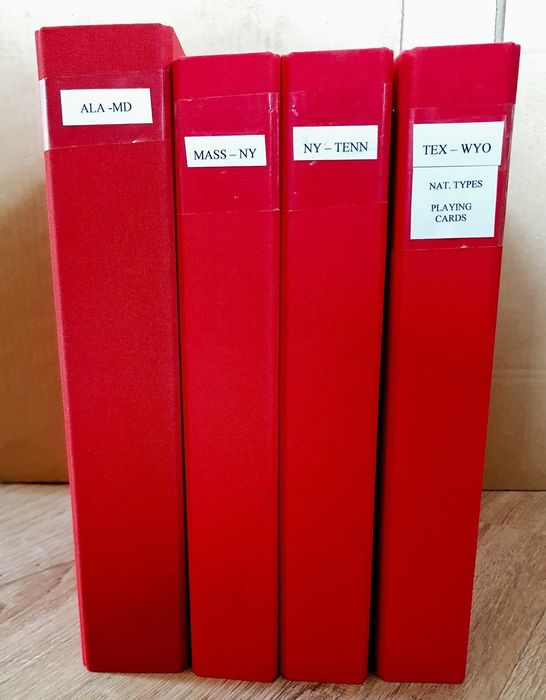 United States of America - Collection of pre-cancels in 4 ring binders