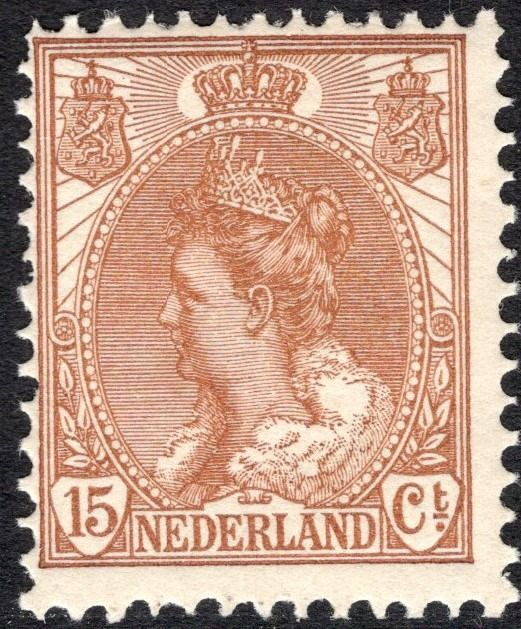 Niederlande 1899 - Queen Wilhelmina 'fur collar' - NVPH 64