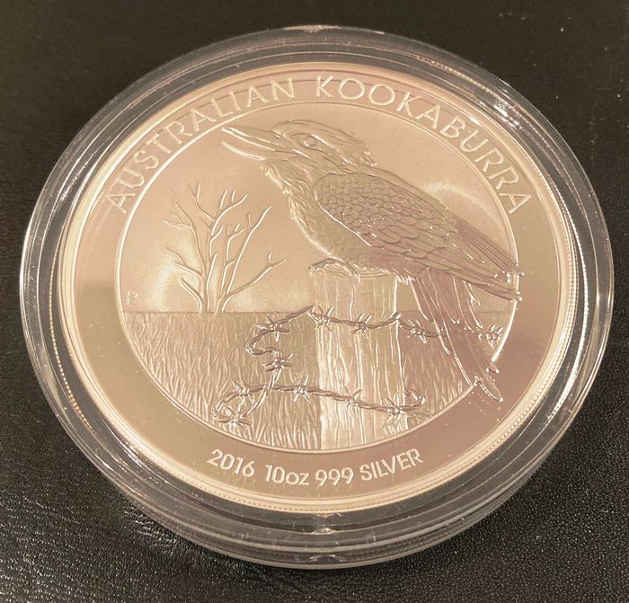 Australië. 10 Dollars 2016 Perth Mint Kookaburra - 10 Oz