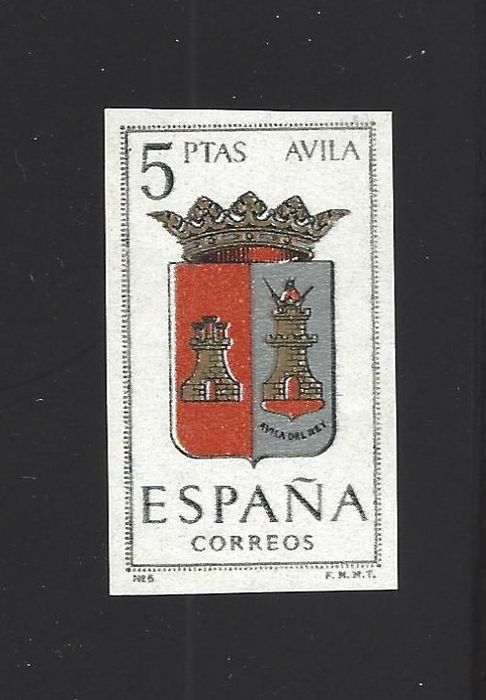 Spain 1962 - Coats of arms - imperforated - Edifil 1410s