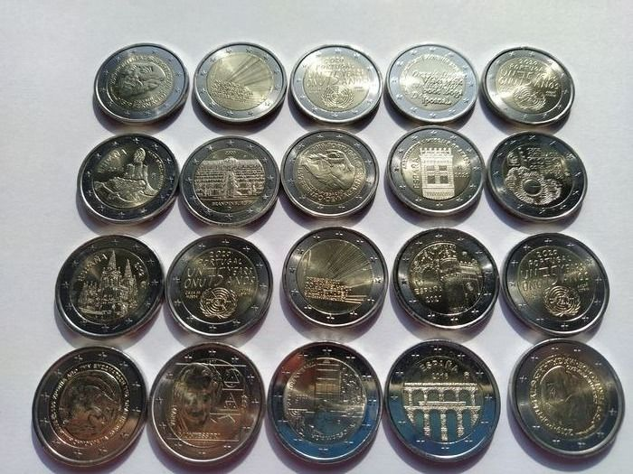 Europe. 2 Euro Different years  (20 pieces)