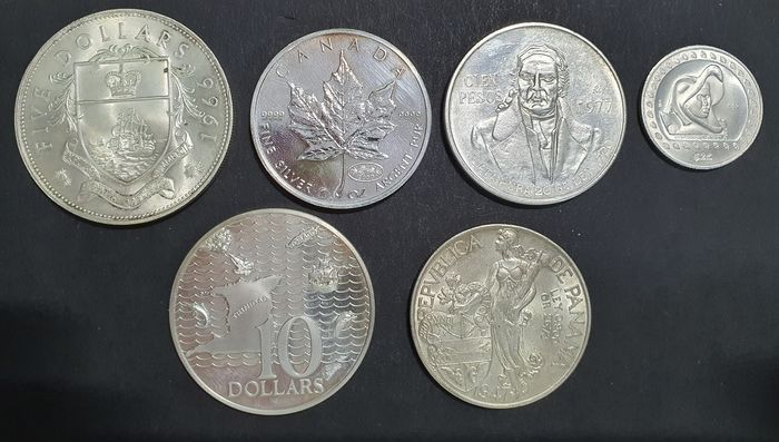 World. Lot various coins 1947/2000 (6 pieces)