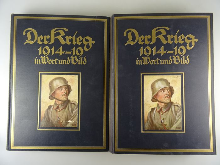 Germany - The war in words and pictures, volumes 2 and 3, great illustrated books 1. Weltkreg - Book