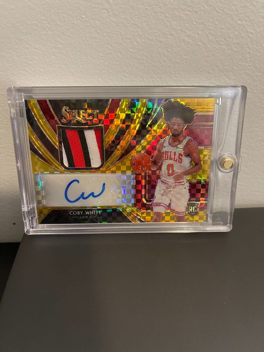 2019/20 Panini Select Basket Carta collezionabile Coby White Rookie/Patch/Auto/Numbered 3/10