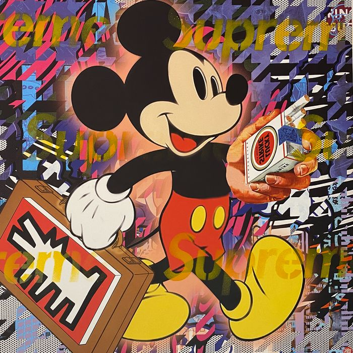 Dillon Boy (1979) - Mickey Mouse / Art is Not a Crime (Keith Haring)