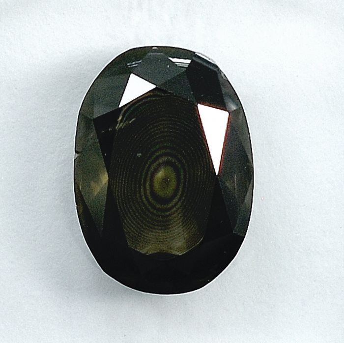 Diamante - 2.19 ct - Ovale - Natural Fancy Deep Gray - I2