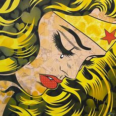 Dillon Boy (1979) - A Crying Wonder Woman vs Roy Lichtenstein (Blonde)