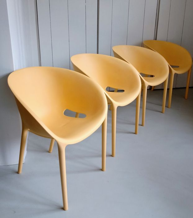 Philippe Starck - Driade - Fauteuil, Stapelbare stoel (4) - Soft Egg