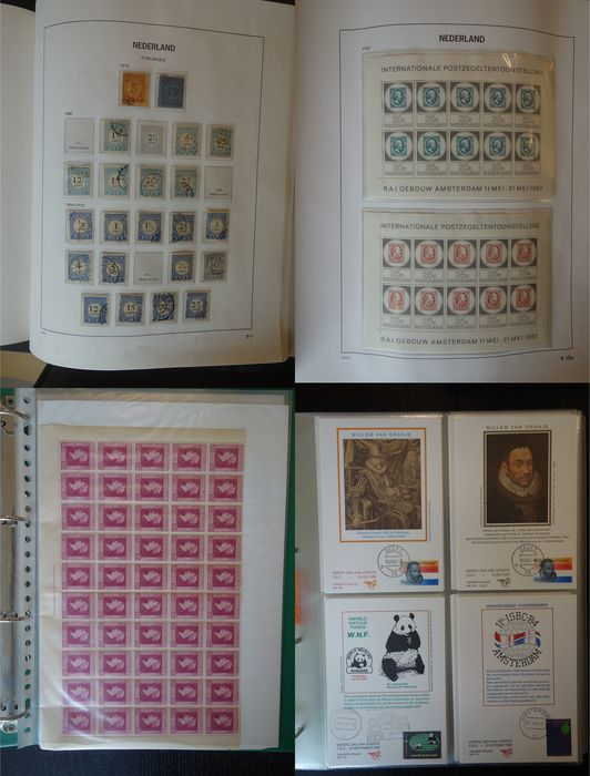 Niederlande 1876/2003 - Batch in eight albums/stock books and loose