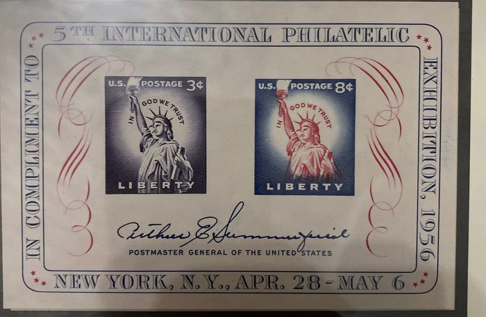 USA 1950/1998 - US souvenir sheets, blocks and blocks of four in Lindner