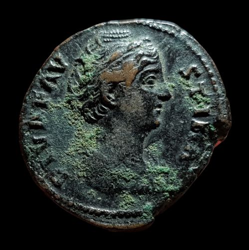 Roman Empire. Faustina I († AD 140/1). Æ As,  Rome, AD 141 - AVGVSTA, Ceres