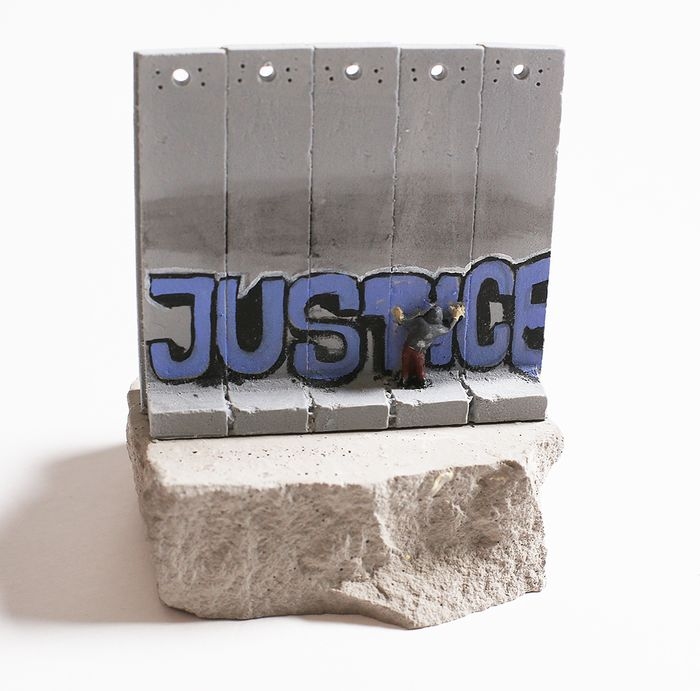 Banksy - Wall Section (Justice)
