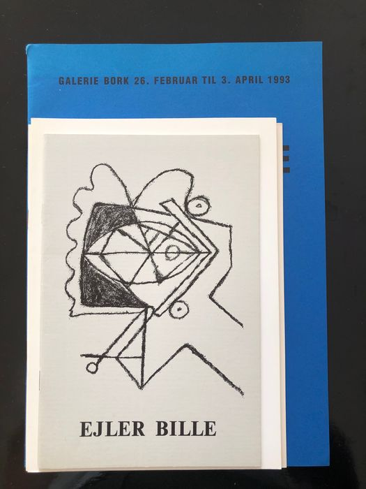Ejler Bille - Lot with 4 catalogues - 1970/1993