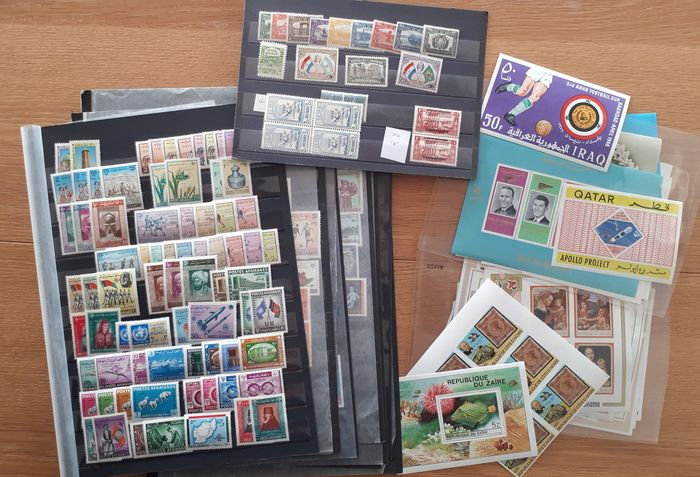 Mondo - MNH stamps and blocks, strong in topical stamps, in 28 photos