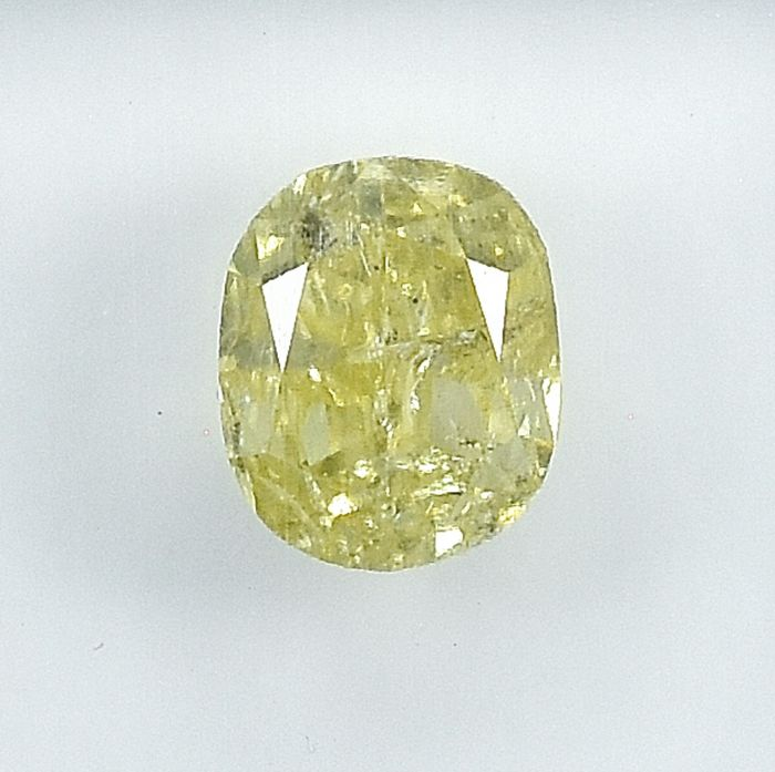 Diamant - 1.01 ct - Ovaal - Natural Fancy Yellow - P2