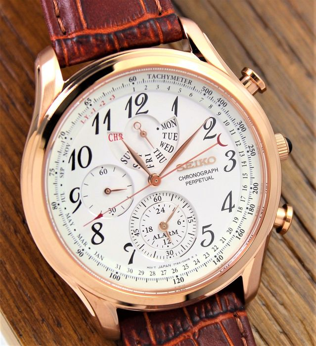 """Seiko - """"NO RESERVE PRICE"""" Perpetual Chronograph Alarm - New And Boxed - Homme - 2011-aujourd'hui"""