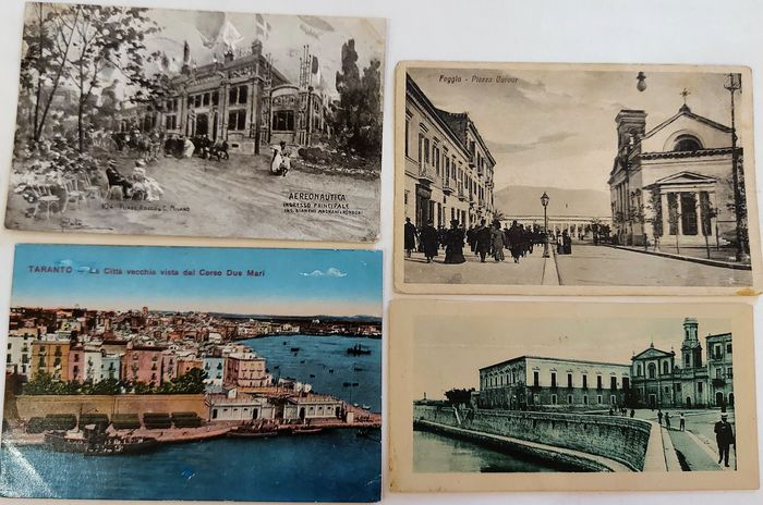 Italy - City & Landscape - Postcard album (Collection of 76) - 1900-1949