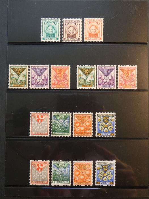 Paesi Bassi 1924/1926 - Children's Aid stamps including syncopation