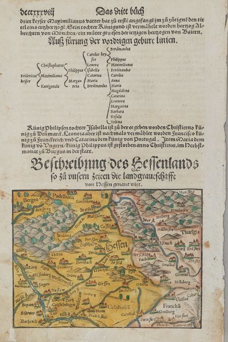 Munster - Original page from the 16th century - 1550