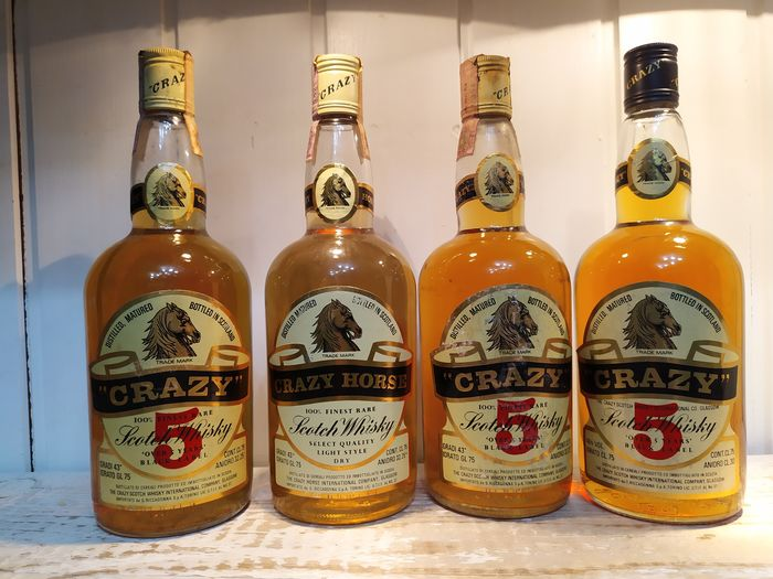 Crazy 5 years old & Crazy Horse light style - b. anii `70 - 75 cl - 4 sticle