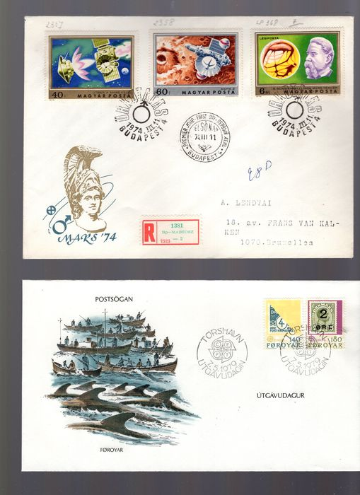 Mondo - A batch of FDCs and covers