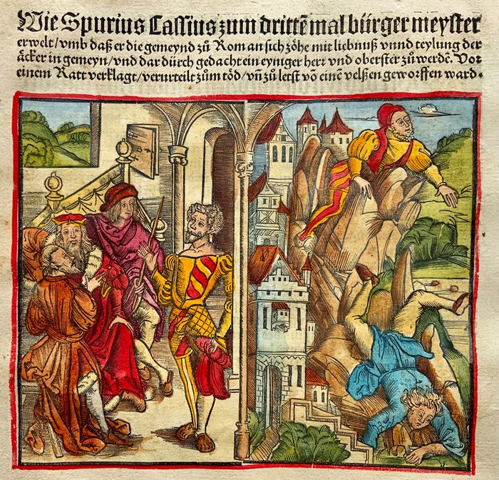 Livius (Livy) Titus (59 B.C.-17 A.D.) - Roman History: Spurius Cassius - Roman Consul who was hurled from the Tarpeian Rock - 1514 - 1514