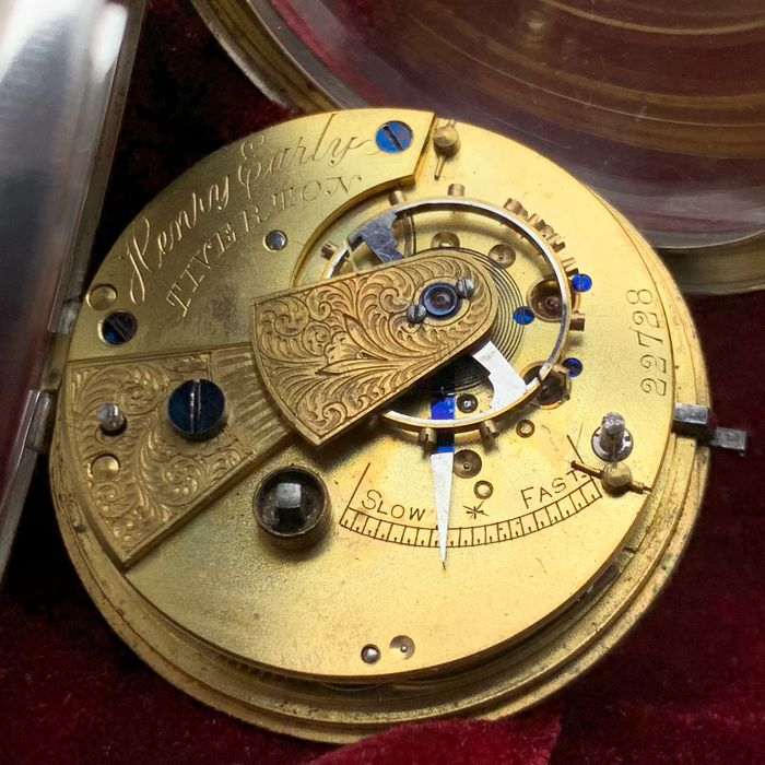 Henry Early - English Fusee pocket watch - Uomo - 1890