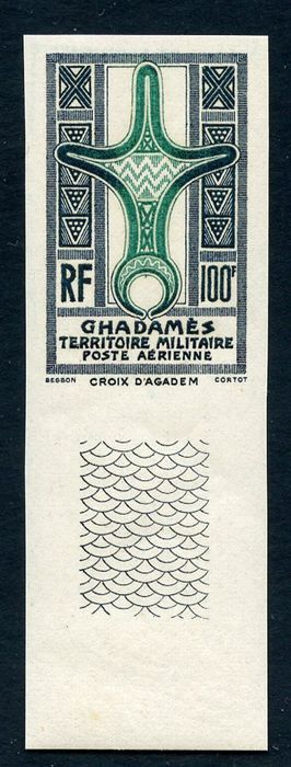 Italië 1949 - Fezzan - stamps for Ghadames - imperforate - Sassone N. A6/IG