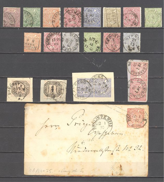 Impero tedesco 1851/1920 - North German and Wurttemberg stamp collection