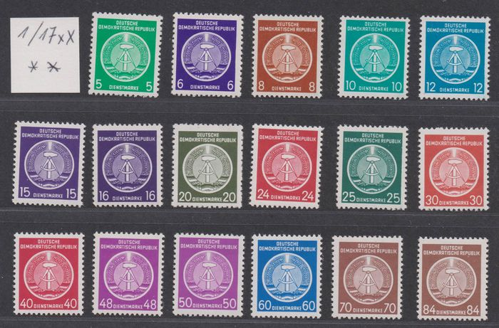 """RDT 1954/1965 - Collection of official stamps and """"ZKD"""" (Central Courier Service) stamps and others"""