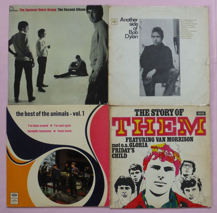 Bob Dylan, Spencer Davis, Animals, Them - Diverse artiesten - Set of 5 over 50 year old records, including some very rare first mono albums - Diverse titels - LP's - 1964/1970