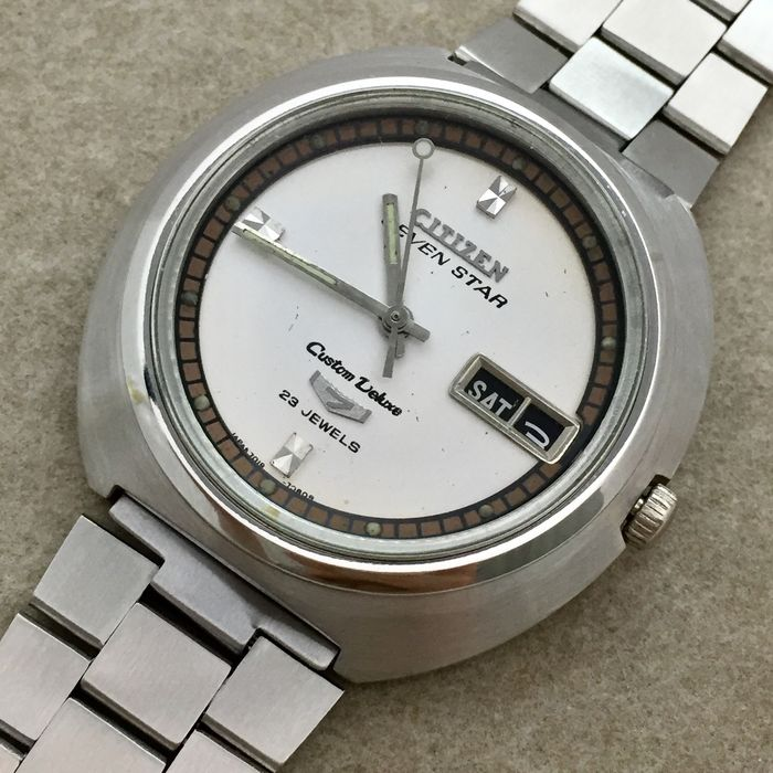 """Citizen - """"NO RESERVE PRICE"""" - Seven Star Custom Deluxe Automatic - Homme - 1960-1969"""