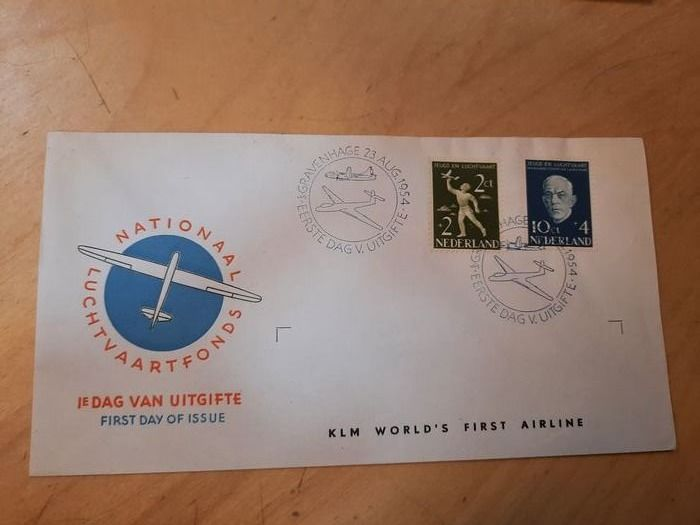 Paesi Bassi 1954 - FDC Aviation Fund, with variety - NVPH E17