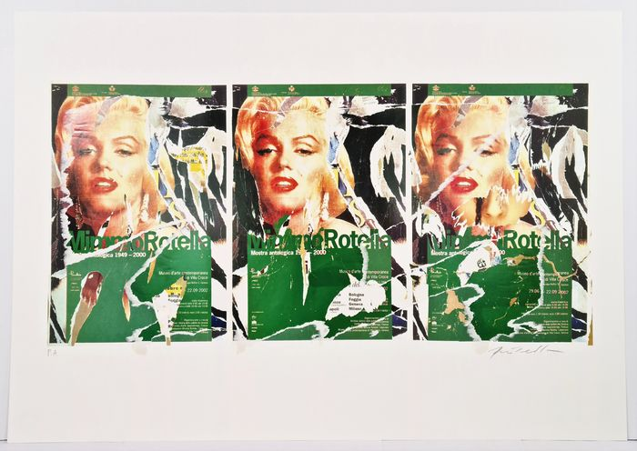 Mimmo Rotella (1918-2006) - Omaggio a Marilyn (A Tribute to Marilyn)