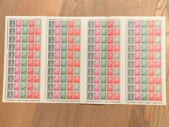 """Germania - repubblica federale - Better """"Heuss"""" stamp booklet sheets - Michel MHB 5YII"""